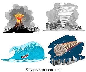 cuatro, desastres naturales