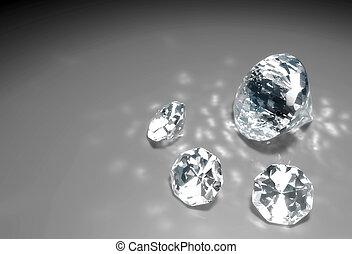 cuatro, diamantes, piso
