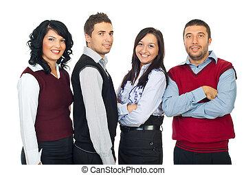 cuatro, empresarios, consecutivo