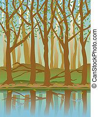 cuatro estaciones, forest-spring