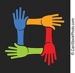cuatro manos, equipo