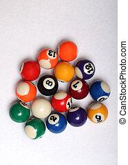 cuatro, pelotas, plano de fondo, blanco