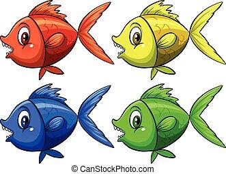cuatro, pez