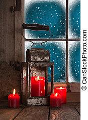 cuatro, tradicional, abrasador, velas, de, decoración, red:,...