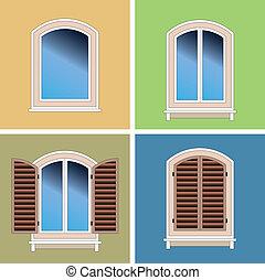 cuatro, windows, tipos, clásico