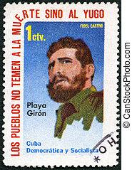 CUBA - 1962: shows Fidel Castro - CUBA - CIRCA 1962: A stamp...
