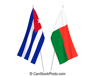 Cuba and Madagascar flags - National fabric flags of Cuba ...