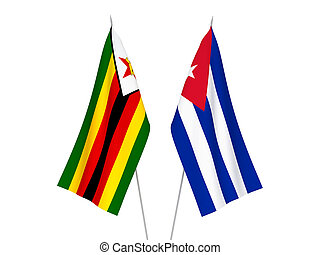 Cuba and Zimbabwe flags - National fabric flags of Cuba and ...