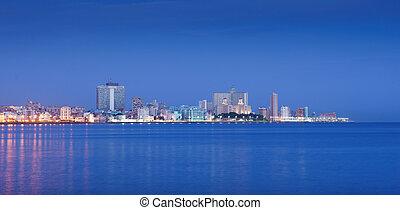 Cuba, Caribbean Sea, la habana, havana, skyline at morning
