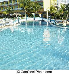 cuba, cayo, piscine, hotel's, coco, natation