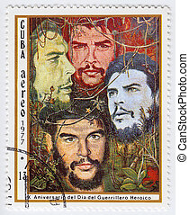CUBA - CIRCA 1977 : stamp printed in Cuba shows Ernesto Che Guevara - legendary guerrilla, circa 1977