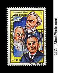CUBA - CIRCA 1981. cancelled stamp printed in CUBA, shows famous