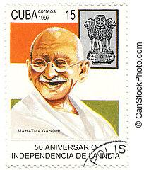 CUBA - CIRCA 1997 : eminent political and spiritual leader...