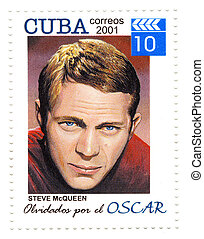 CUBA - CIRCA 2001 : Steve McQueen - 1960s and 1970s famous...