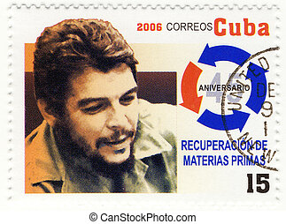 CUBA - CIRCA 2006 : stamp printed in Cuba with portrait of Che Guevara - legendary guerrilla, circa 2006
