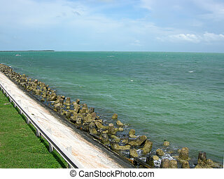 cuba coastline - Cuba ... Caribbean coastline along Varadero...