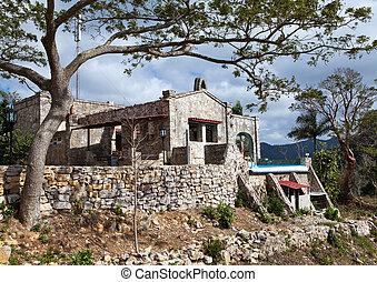 Cuba. destroyed house.