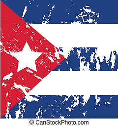 Cuba - dirty cuba flag background