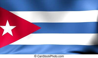 Cuba Flag. Background Seamless Looping Animation. 4K High Definition Video.