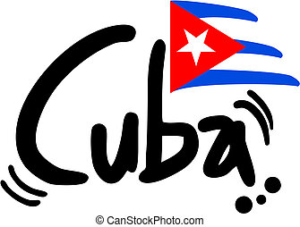 Creative design of cuba flag