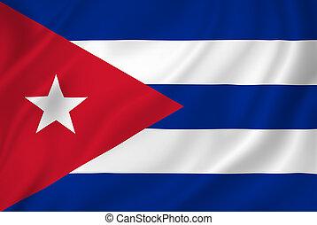 Cuba national flag background texture.