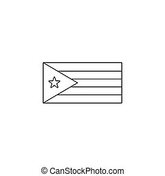 Cuba flag icon, outline style