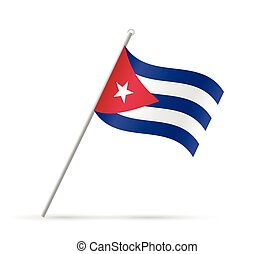 Illustration of a flag from Cuba isolated on a white background.