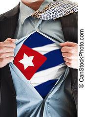 Cuba flag on shirt