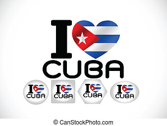 Cuba flag themes idea design