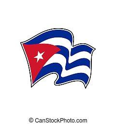 Cuba flag. Vector illustration. Havana