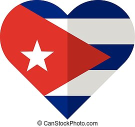 Cuba flat heart flag
