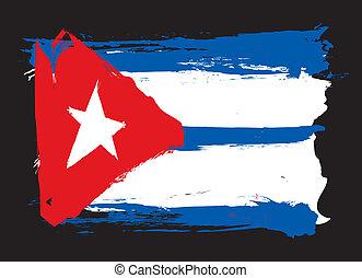 cuba, grunge, flag