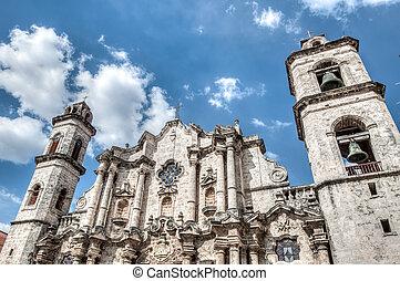 Cuba Havana Plaza Vieja - Plaza Vieja with church, Habana ,...