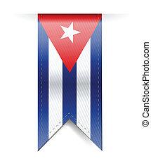 cuba, illustrazione, stendardo bandiera