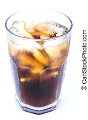 Cuba Libre Alcoholic Drink, Coke with Ice Non-alcoholic Drink
