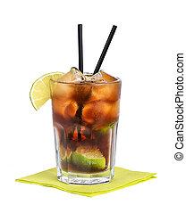 Cuba Libre Cocktail, Free Cuba, a highball made of cola,...
