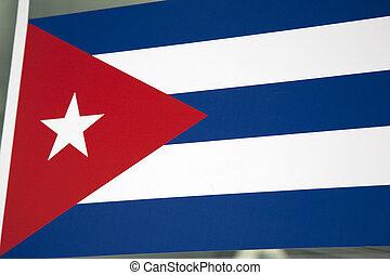 cuba, nacional, latín, bandera, américa