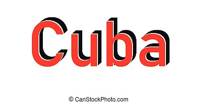 Cuba red stamp isolated on white background