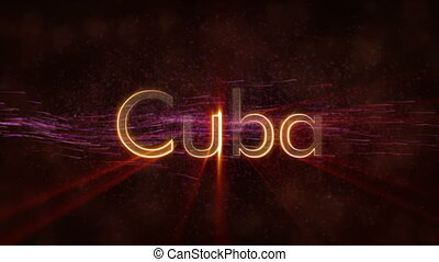 Cuba - Shiny looping country name text animation - Cuba...