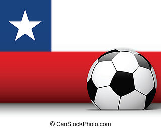 Cuba Soccer Ball with Flag Background