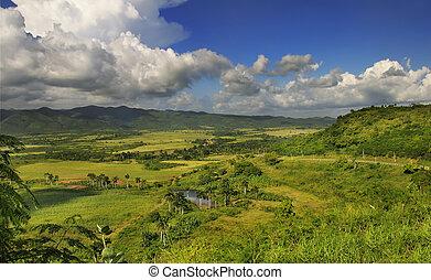 cubaanse , platteland, landscape, -, escambray, sierra