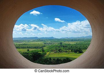 cubaine, -, paysage, trinidad