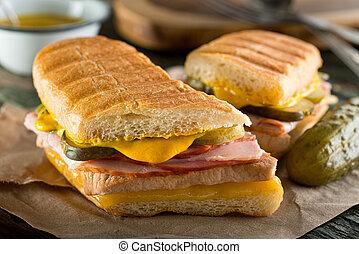 cubaine, sandwich, cubano