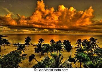 Cuban Beach, HDR - Beach at Guardalavaca, Holguin, Cuba