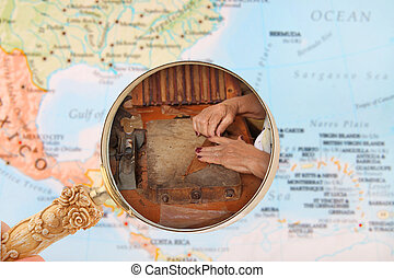 Cuban cigar maker - Looking in on a woman making cigars in...