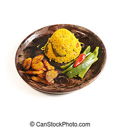 Cuban dish isolated - Isolated dish of cuban typical salted...