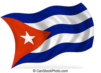 Cuban flag, isolated