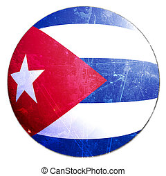 cuban flag on a solid white background