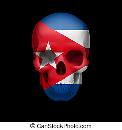Cuban flag skull