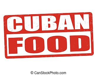 Cuban food sign or stamp